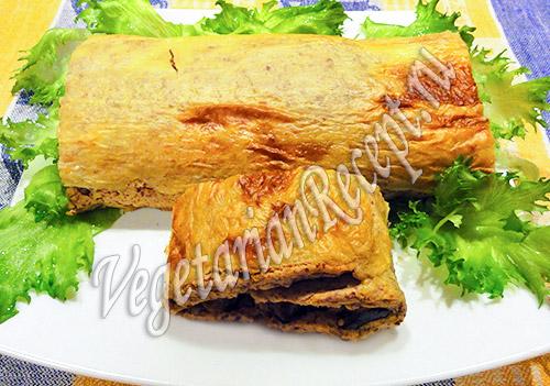 рулет из фасоли и картофеля