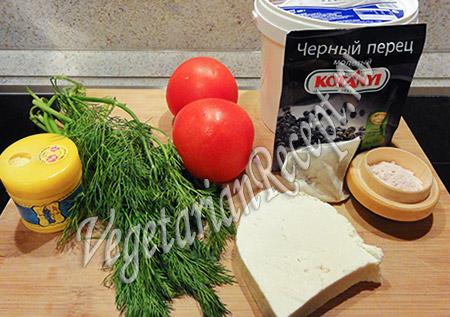 ингредиенты для салата с черной редькой