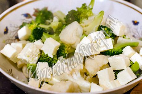 приготовление салата с цветной капустой