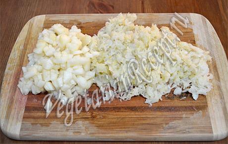 нарезаем квашеную капусту