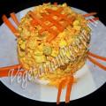 салат из моркови с сыром и сухариками