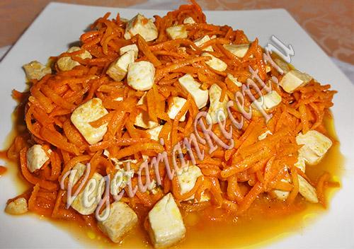 салат с тофу и морковью