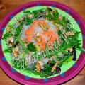 салат из кольраби, редьки и батата