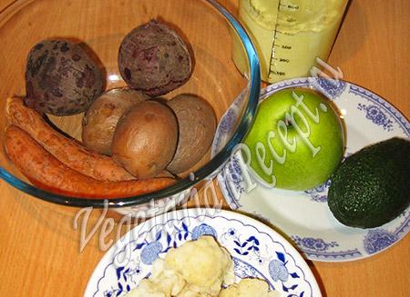 овощи для слоеного салата