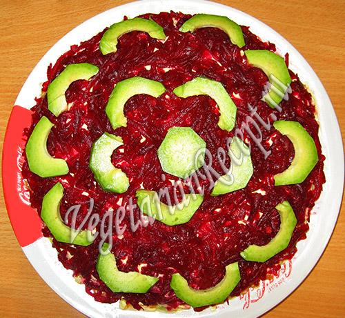 овощной слоеный салат