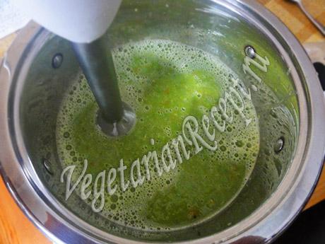 делаем из супа с зеленым горошком пюре