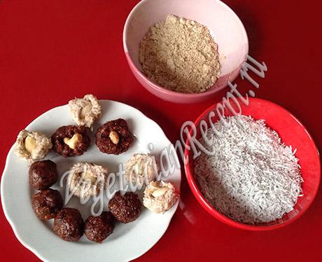 приготовление сыроедческих конфет