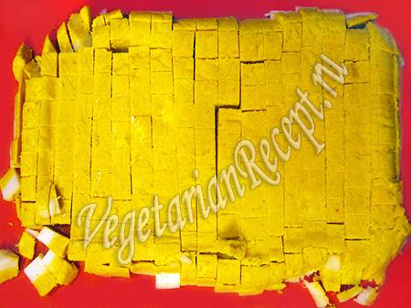 вегетарианские яйца для салата с кукурузой