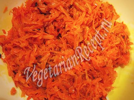 тушеная морковь для прослойки закусочного торта