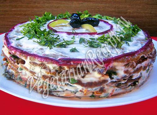 закусочный торт чечевичный