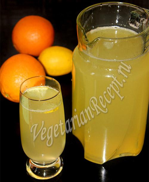 домашний лимонад - рецепт из апельсинов