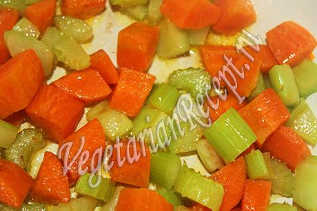 тушим овощи для минестроне