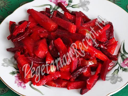 рецепт овощного рагу со свеклой