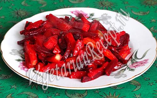 овощное рагу со свеклой рецепт