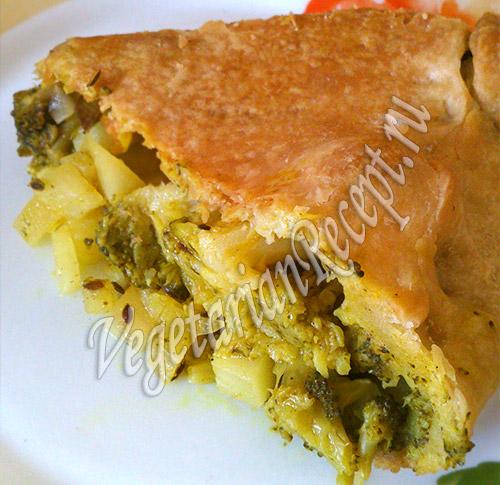 пирог с картофелем и брокколи