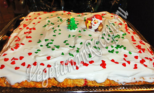 рецепт с фото пирога с клюквой