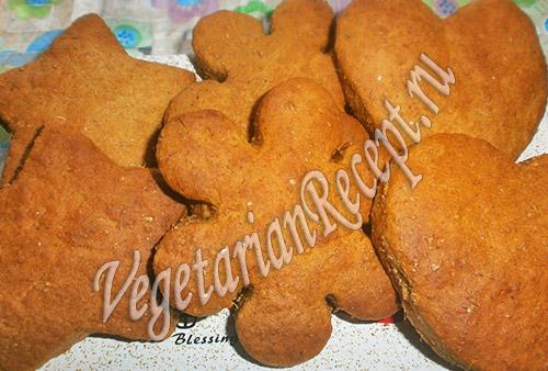 постное печенье с имбирем