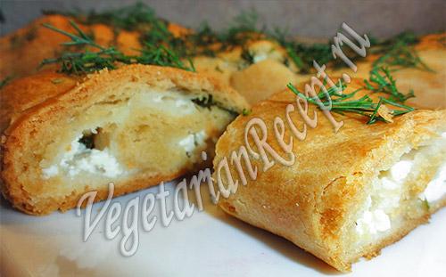 рулет с сыром и зеленью