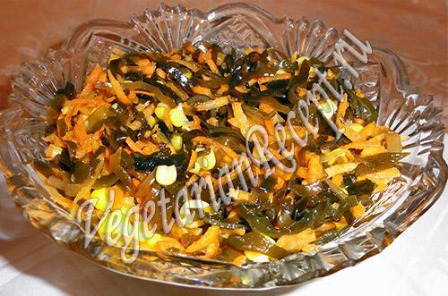 салат с морской капустой и кукурузой - рецепт