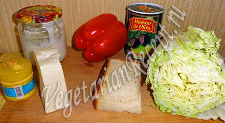 пекинская капуста, сыр и другие продукты