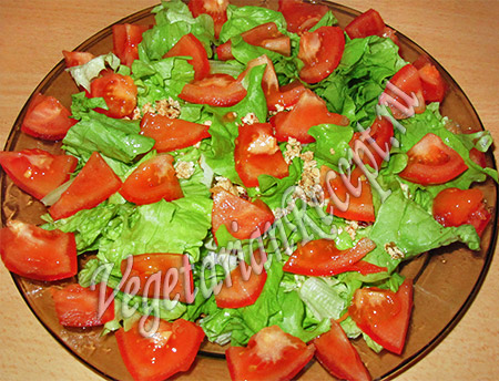 приготовление салата капрезе