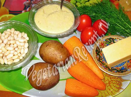 картофель, морковь и другие продукты