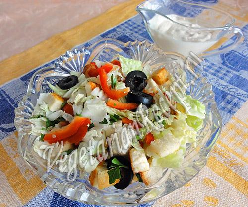 салат с сыром и пекинской капустой
