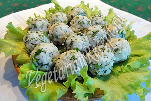 рецепт шариков из риса