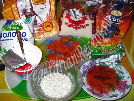 продукты для сладких роллов