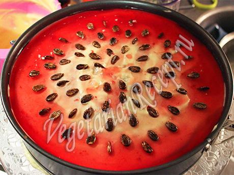 торт арбуз - приготовление