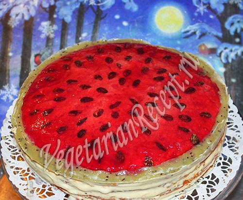 Торт Арбуз - рецепт с фото