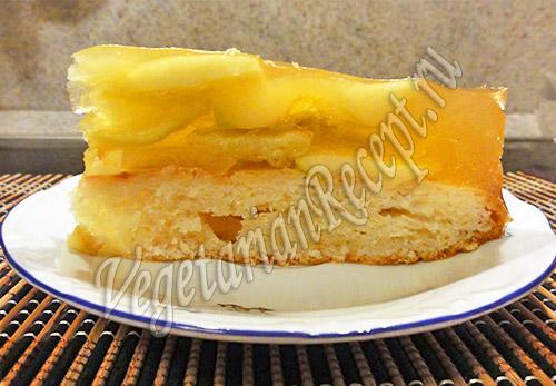 яблочный торт с желе