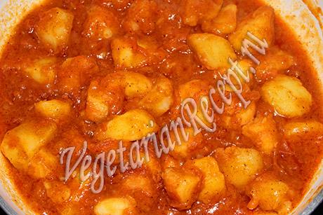 Как приготовить картофель с томатной пастой