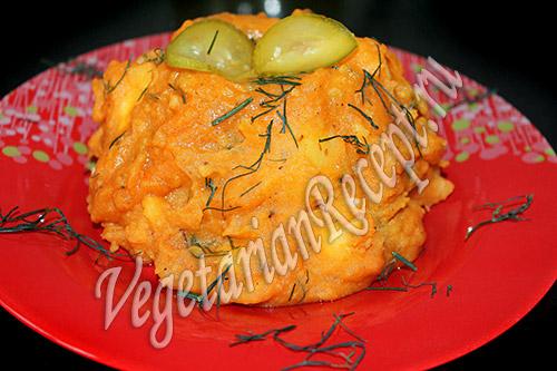 тушеная картошка с томатной пастой