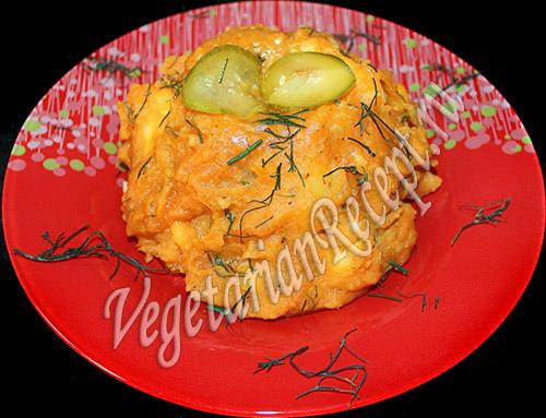 тушеный картофель с томатной пастой
