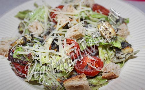 салат вегетарианский Цезарь