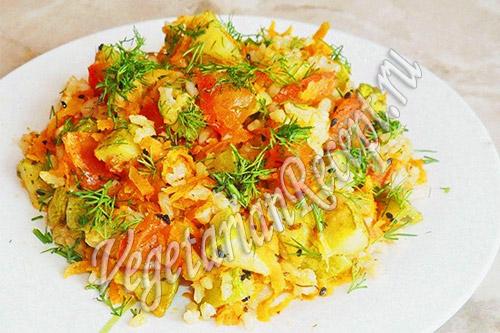 кабачки с рисом в духовке