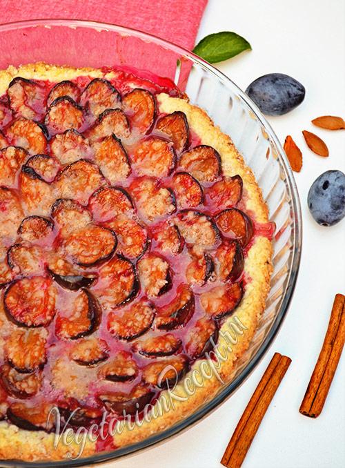 Пирог со сливами - рецепт с фото
