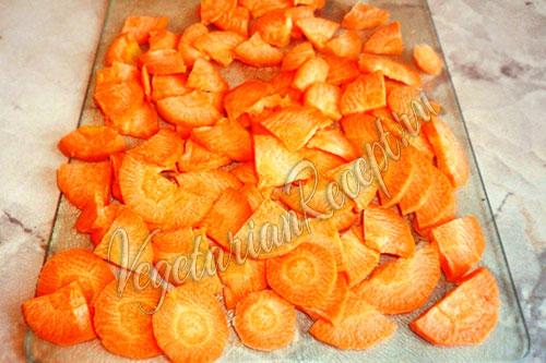 подготовленная морковь