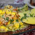 тушеные кабачки с морковью и сыром