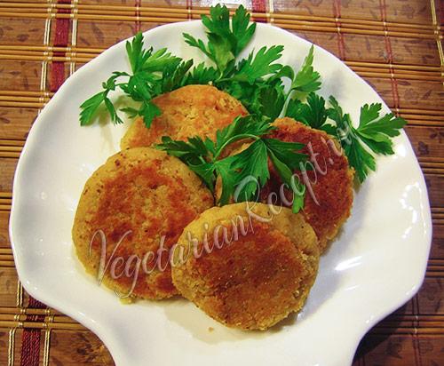 котлеты из гороха нут (нагут) - рецепт с паниром