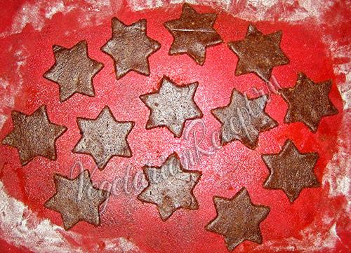 вырезанное печенье