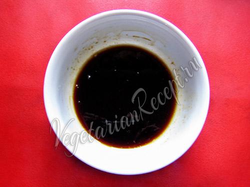 соевый соус, масло и уксус