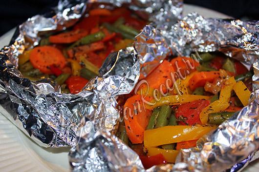 овощи запеченные в фольге в духовке