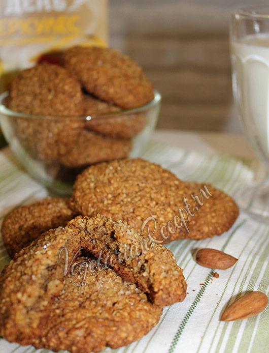 овсяное печенье с миндалем рецепт