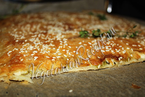 фото пирога с кабачками и сыром