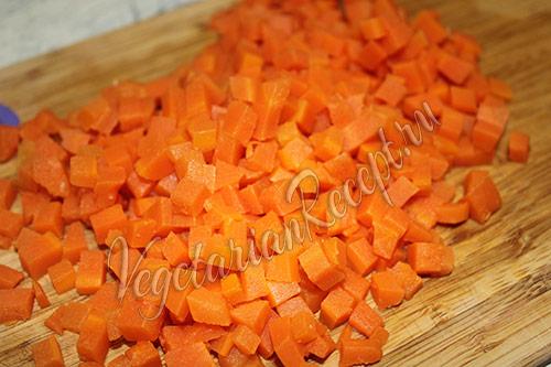 измельченная морковка