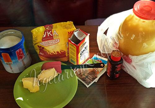 продукты для приготовления пряничного домика