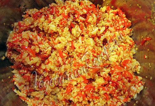 рулетики с рисом и нори - начинка 2