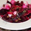 салат из свеклы с редиской, моцареллой - рецепт
